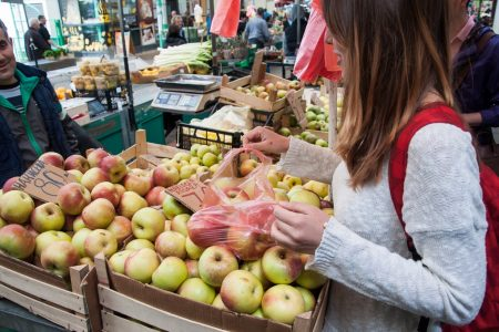 Fresh green market in Belgrade